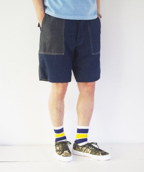 Engineered Garments Workaday/エンジニアド ガーメンツ ワーカデイ Fatigue Short - 6oz Denim / Combo