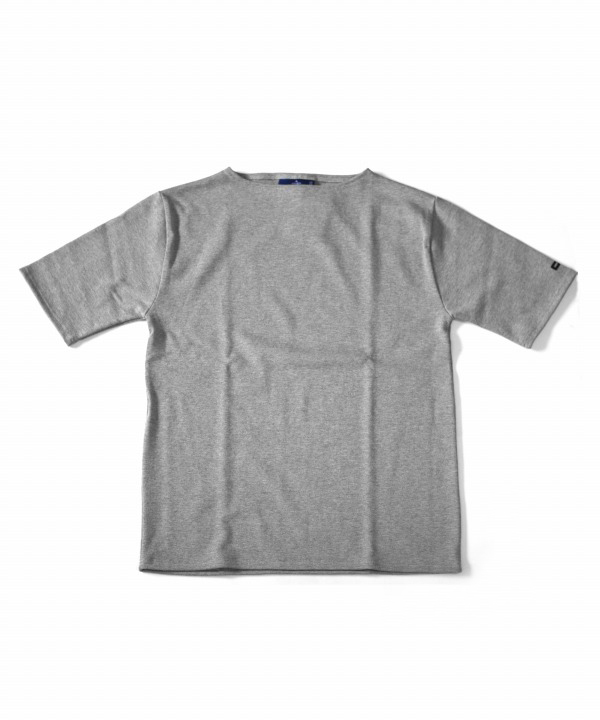 Saint James/セントジェームス OUESSANT S/S - SOLID GRIS(グレー)