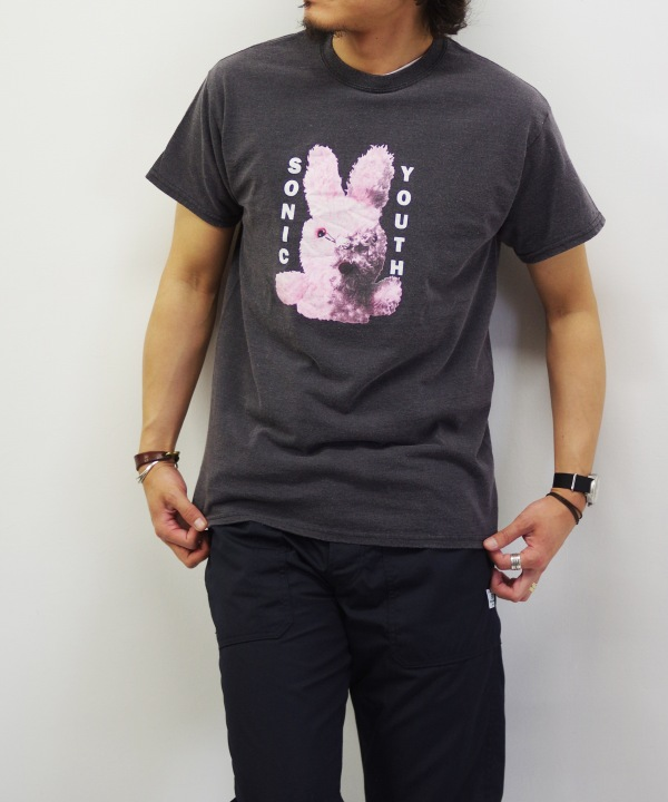 "ROCK 90's S/S PRINT TEE SONIC YOUTH ""DARTY BUNNY"" 【MAPSのスペシャル】"