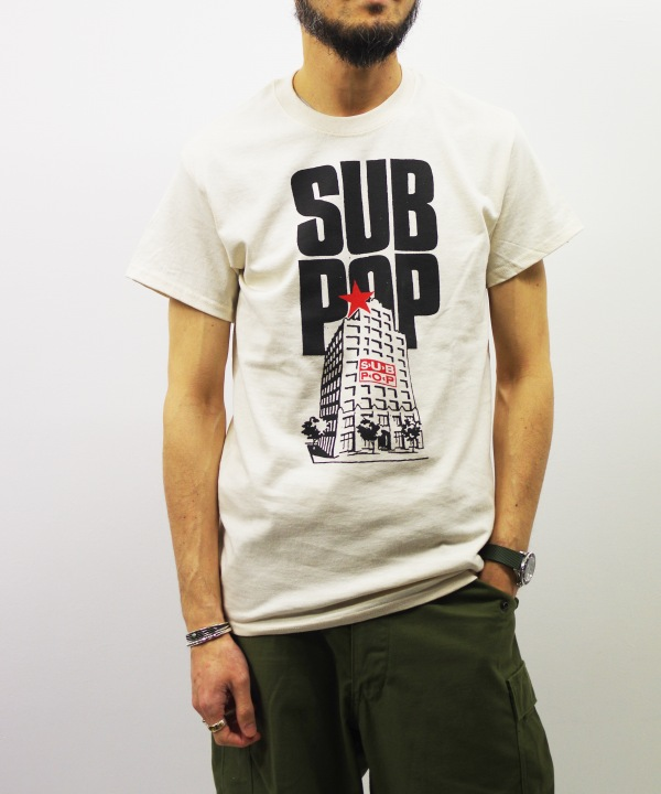 "SUB POP/サブポップ S/S PRINT TEE ""INDIE SELL OUT"""