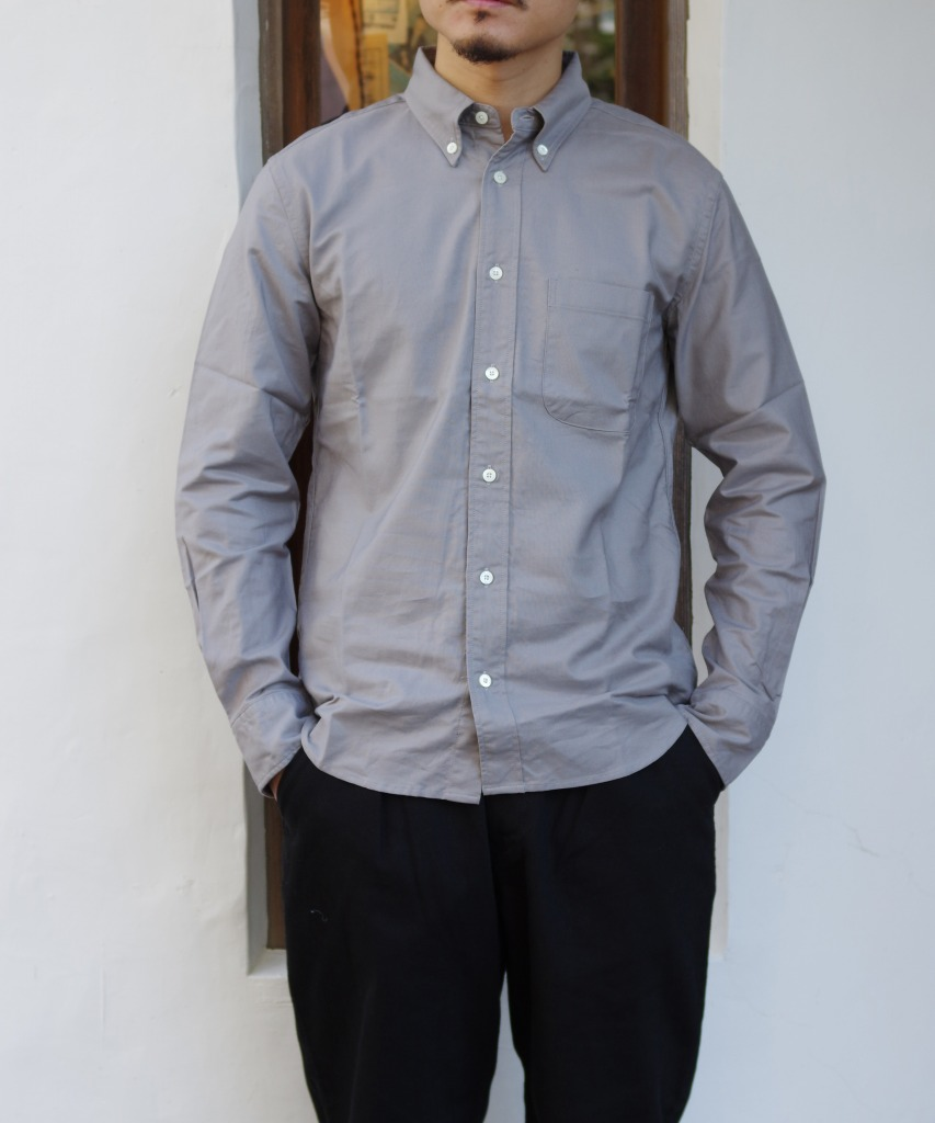 Manual Alphabet/マニュアルアルファベット SUPIMA OX BD SHT/Suitable Fit - GREY 【MAPSの定番】