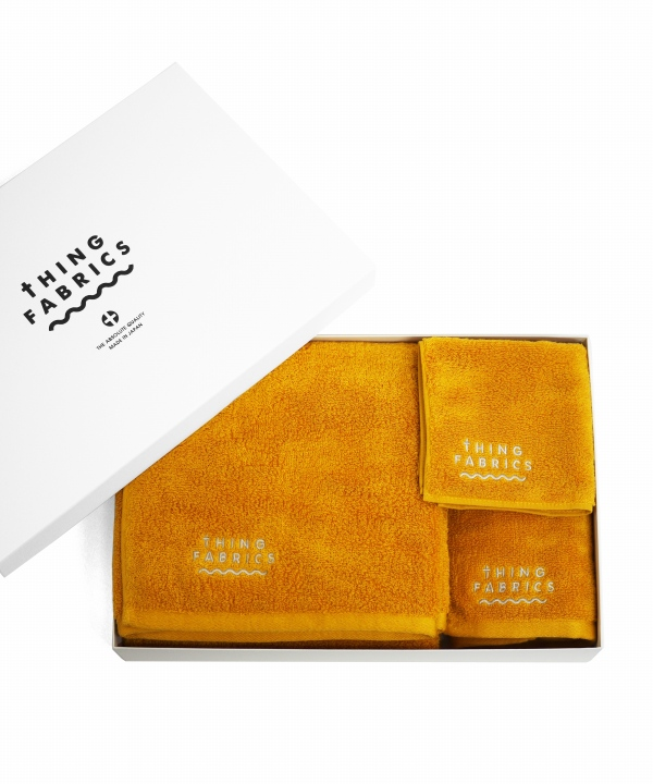 tHING FABRICS/シングファブリックス TIP TOP 365 towel Gift box - Yellow 【MAPSの定番】