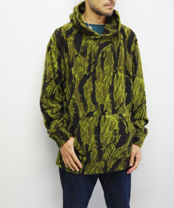 Needles Sportswear/ニードルズ スポーツウェア Warm-up Hoody - Poly Fleece / Tiger Camo Stripe