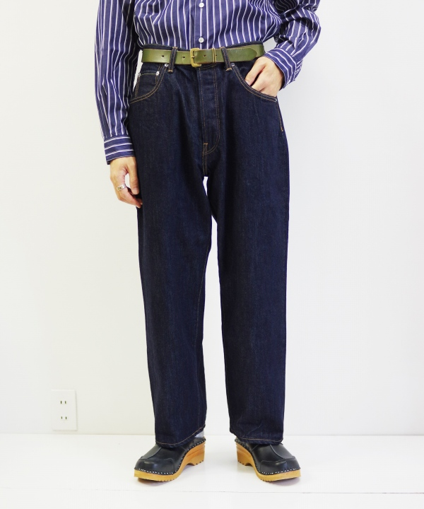 HATSKI/ハツキ Wide Tarpered Denim - One Wash