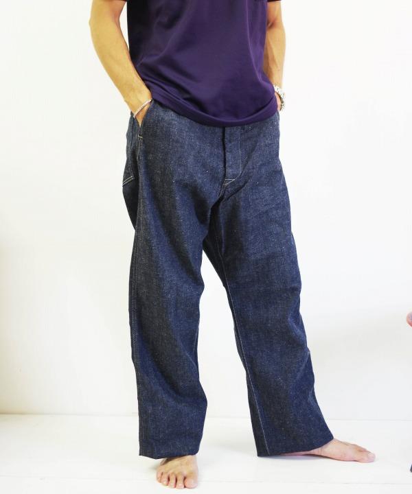 ア ボンタージ/A VONTADE  Buckle back PW Denim Trousers-11.5oz