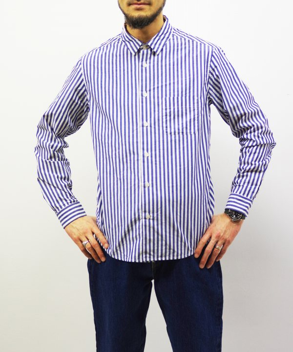 MUYA/ムヤ 60/1 Atelier Shirts Relax Stripe 【MAPSの定番】