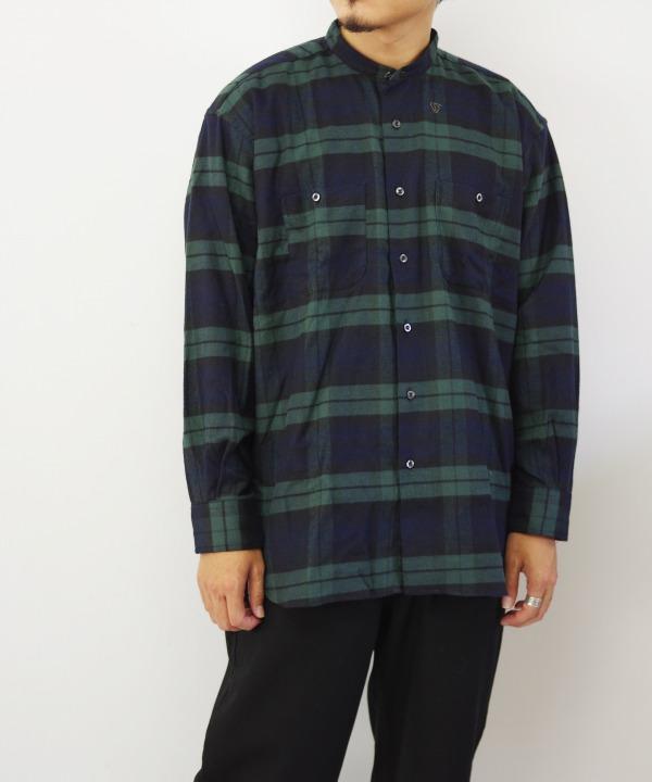 INDIVIDUALIZED SHIRTS/インディビジュアライズドシャツ BAND COLLAR LOGGER SHIRTS 【MAPSのスペシャル】
