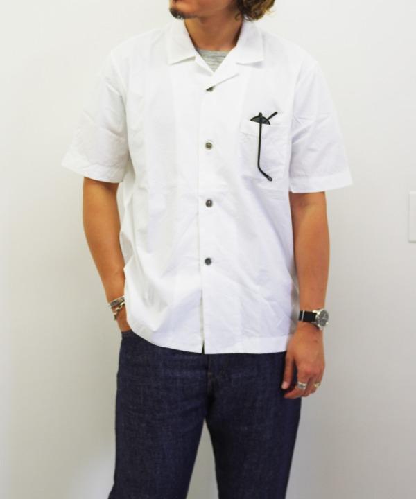 RINEN/リネン 100/2 ブロード 半袖オープンカラーシャツ(全2色)