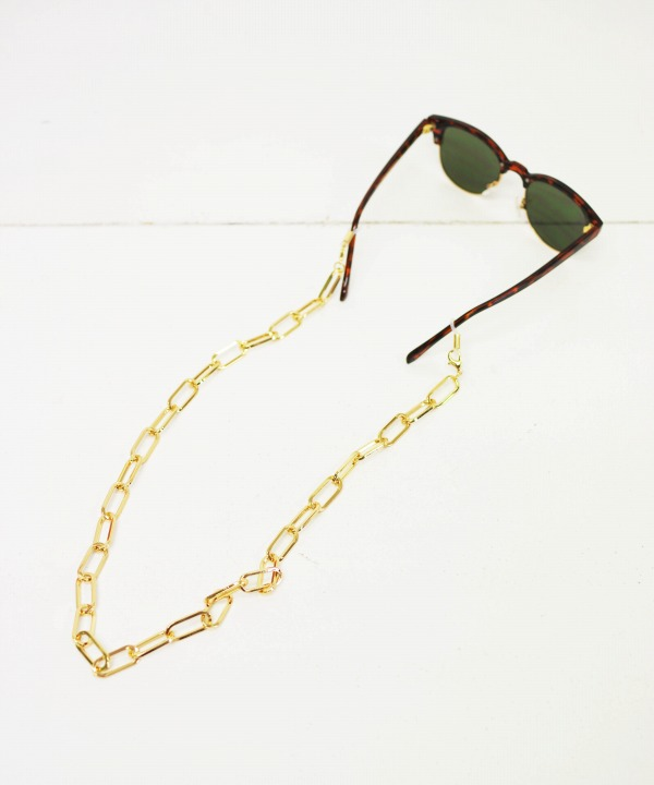 BLicensceLL/ブリスンセル chunky gold chain mask & glass holder