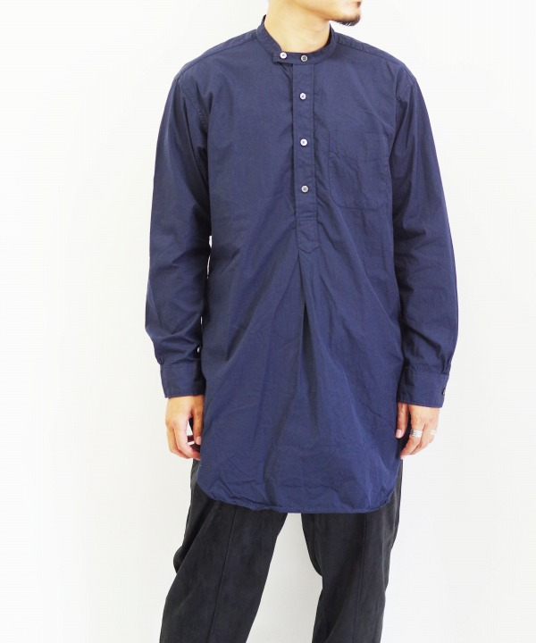 Engineered Garments/エンジニアド ガーメンツ Banded Collar Shirt - 100's 2Ply Broadcloth