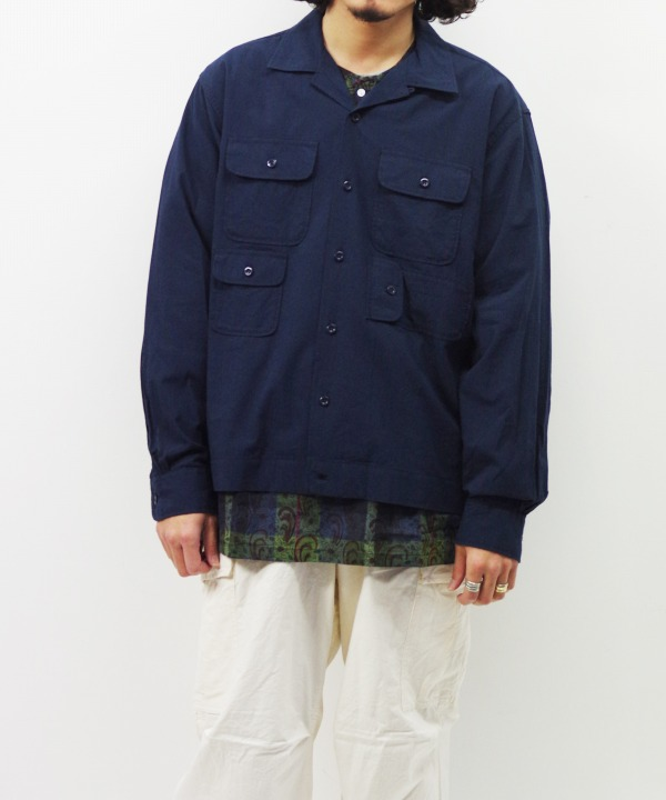 Engineered Garments/エンジニアド ガーメンツ Bowling Shirt - Solid Cotton Lawn