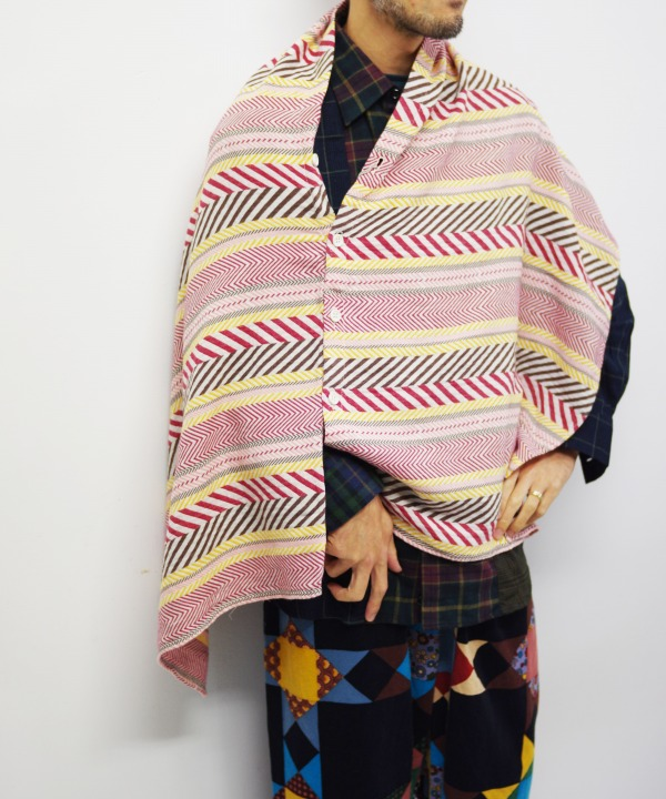 Engineered Garments/エンジニアド ガーメンツ Button Shawl - Horizontal Jacquard