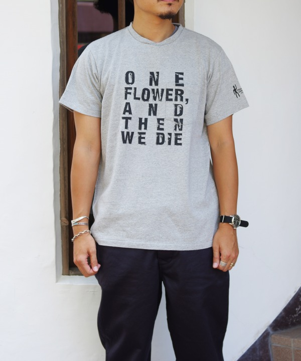 Engineered Garments/エンジニアド ガーメンツ Printed Cross Crew Neck T-shirt - One Flower (全3色)