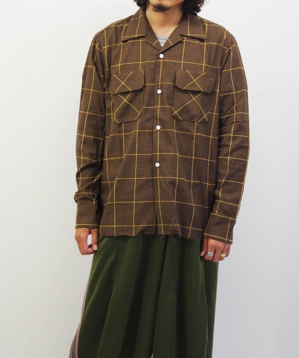 Needles/ニードルズ C.O.B. Classic Shirt - C/Pe/R Plaid Twill