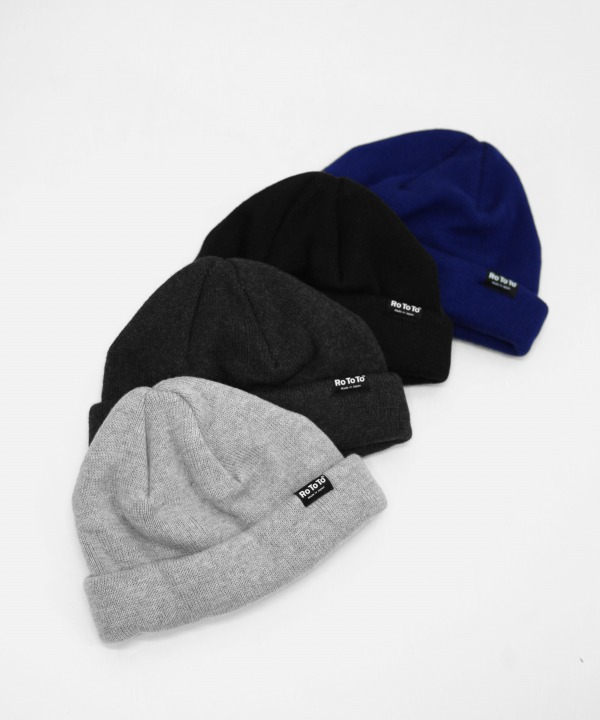 ROTOTO/ロトト COTTON CASHMERE ROLL BEANIE