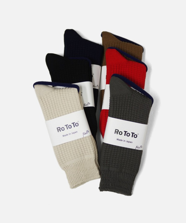 Ro To To/ロトト COTTON WAFFLE SOCKS