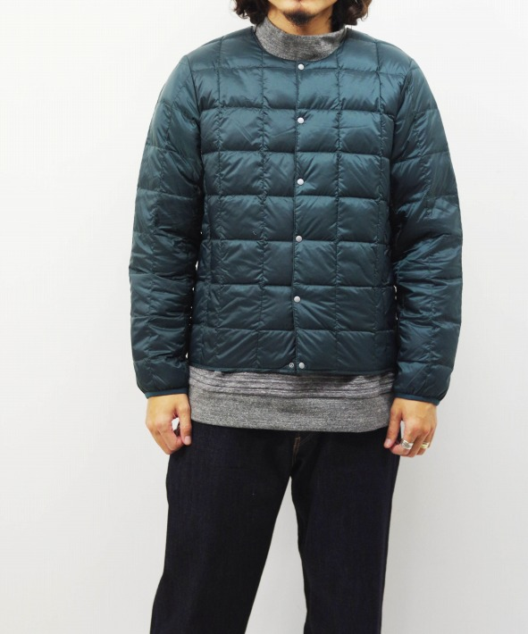 TAION/タイオン CREW NECK BUTTON DOWN JACKET (全5色)