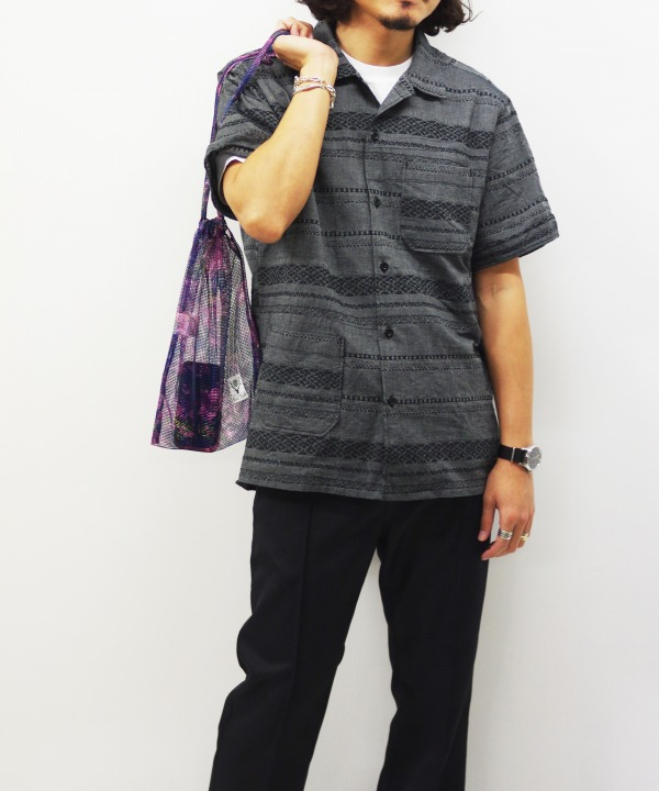 Engineered Garments/エンジニアド ガーメンツ Camp Shirt - Horizontal Stripe Jacquard