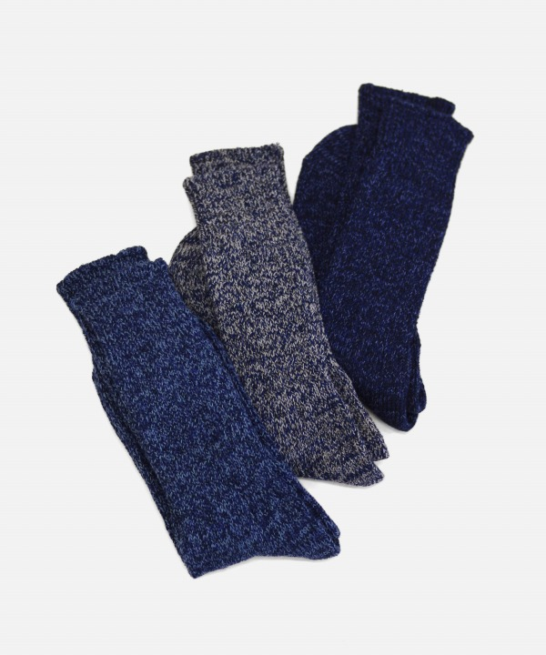 ROTOTO/ロトト DENIM TONE CREW SOCKS
