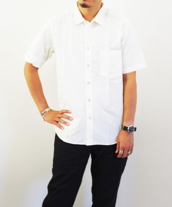 RINEN/リネン 80/2 ダウンプルーフ半袖レギュラーカラーシャツ(全3色)
