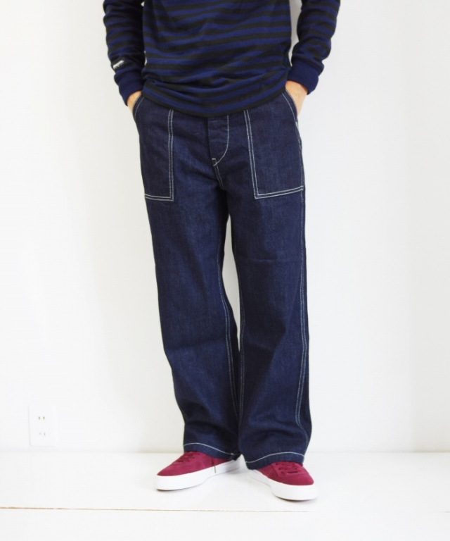 HATSKI/ハツキ Denim Fatigue Pants - One Wash