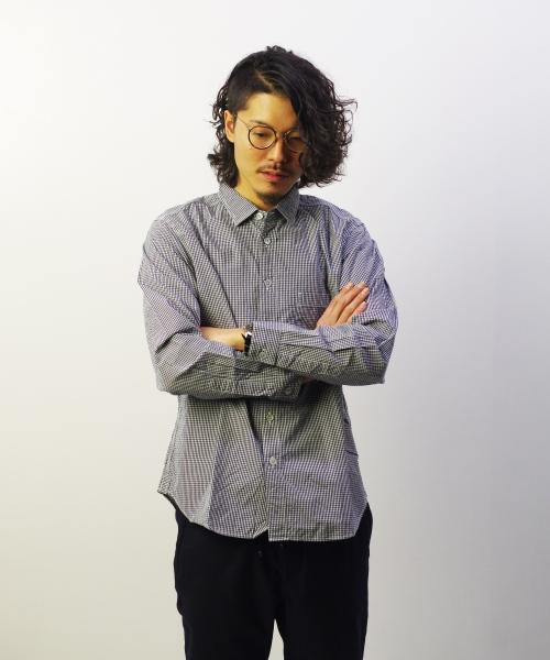 RINEN/リネン 80/2 ダウンプルーフ レギュラーカラーシャツ - ギンガムチェック 【MAPSの定番】