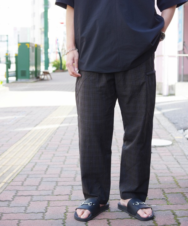 Engineered Garments/エンジニアド ガーメンツ Drawstring Pant - Pintuck Small Plaid
