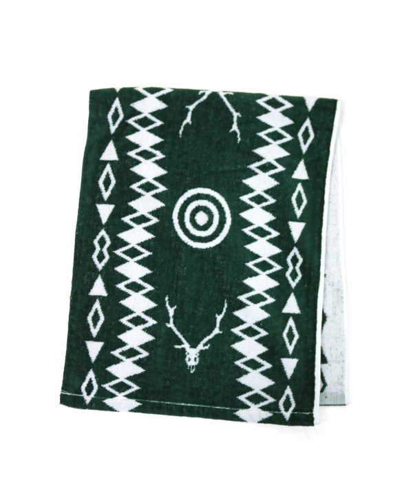 South2 West8/サウス2 ウエスト8 Face Towel - Cotton Jacquard / Target & Skull