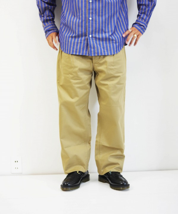 A VONTADE/ア ボンタージ French Mil. 2 Tuck Trousers - Classic Twill