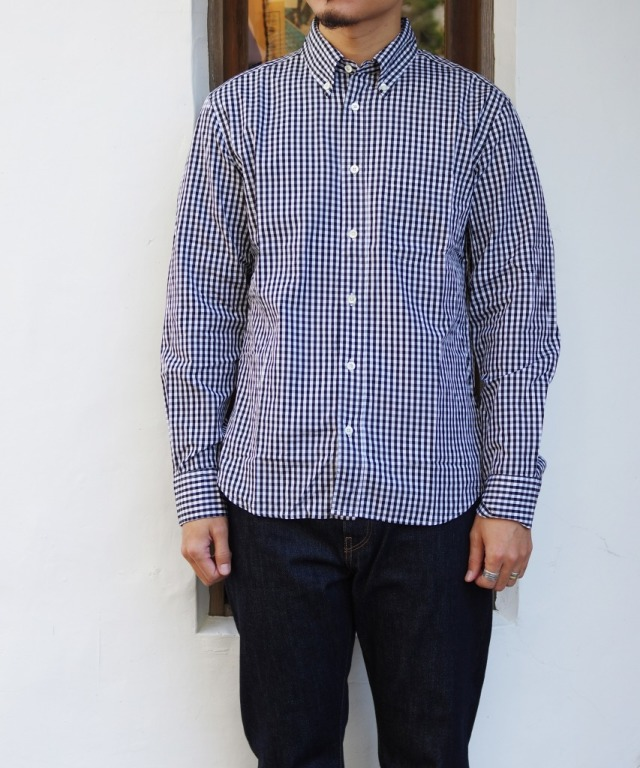 Manual Alphabet/マニュアルアルファベット 100/2 GINGHAM BD SHT/Suitable Fit - BLACK