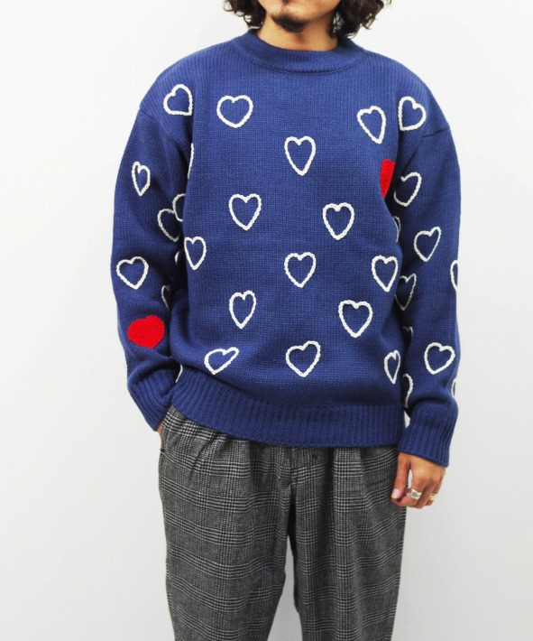 Chah Chah/チャーチャー HEARTFULL HAND EMBROIDERY KNIT