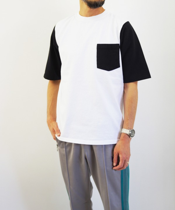 Goodwear/グッドウェア 1/2 SLEEVE COLOR BLOCK POCKET TEE