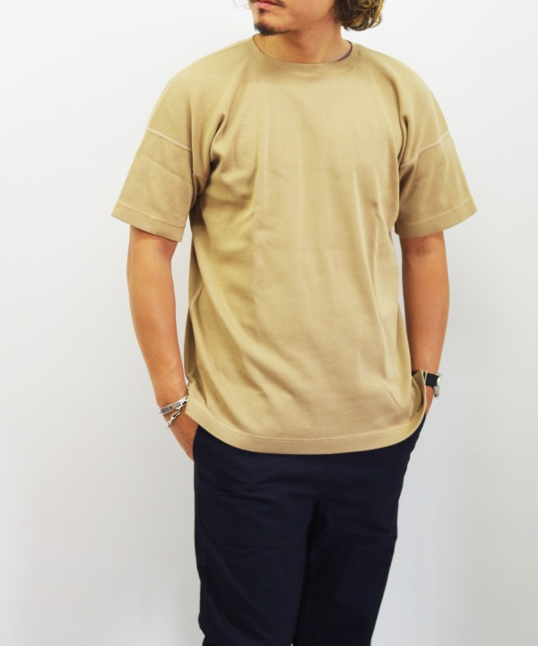 Olde Homesteader/オールドホームステッダー CREW NECK SHORT SLEEVE - Heavy Weight Rib カーキ