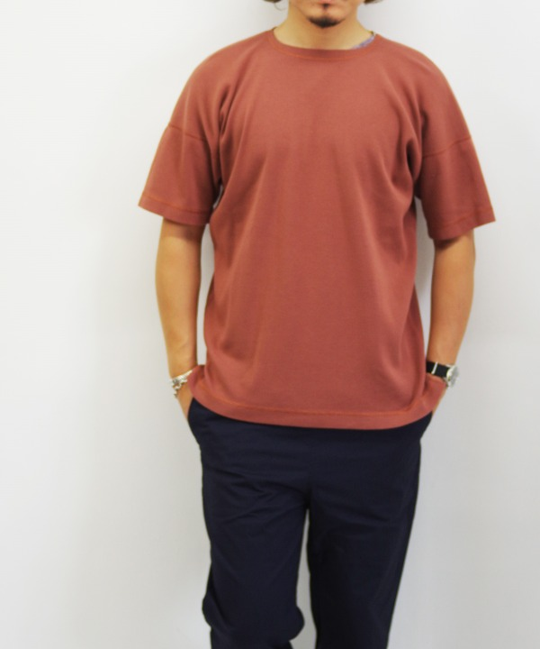 Olde Homesteader/オールドホームステッダー CREW NECK SHORT SLEEVE - Heavy Weight Rib ローズウッド