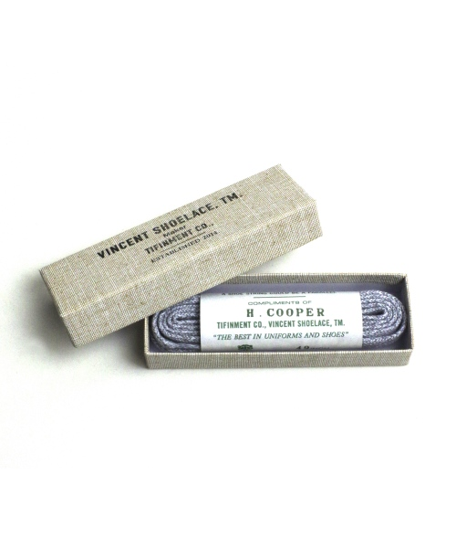 VINCENT SHOELACE/ヴィンセントシューレース H.COOPER Heather Gray 【MAPSの定番】