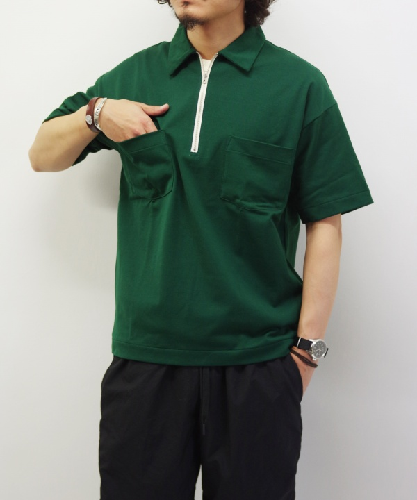A VONTADE/ア ボンタージ Half Zip Polo S/S