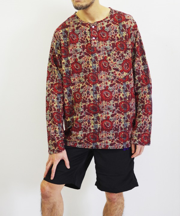 South2 West8/サウス2 ウエスト8 Henley Neck Shirt - Batik Over Print (全2色)