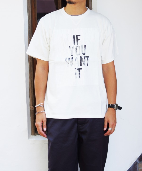 BLANK/ブランク IF WANT IT PHOTO TEE