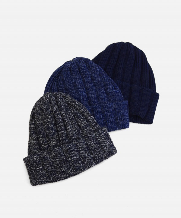 ROTOTO/ロトト INDIGO COTTON x WOOL BEANIE