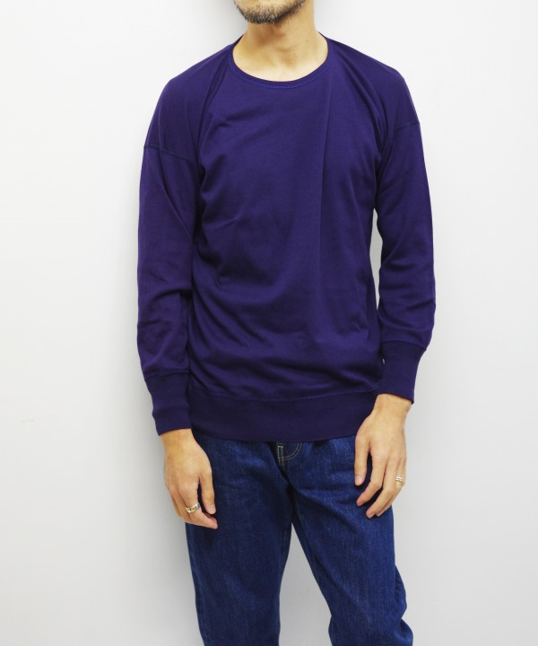 Olde Homesteader/オールドホームステッダー CREW NECK LONG SLEEVE - Interlock ネイビー