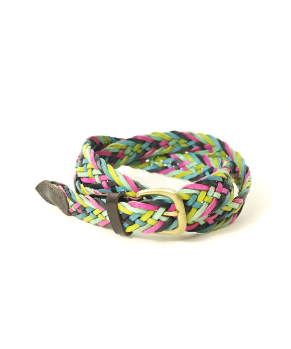 ANGLO Leather Craft/アングロレザークラフト LEATHER MULTI COLOR MESH BELT
