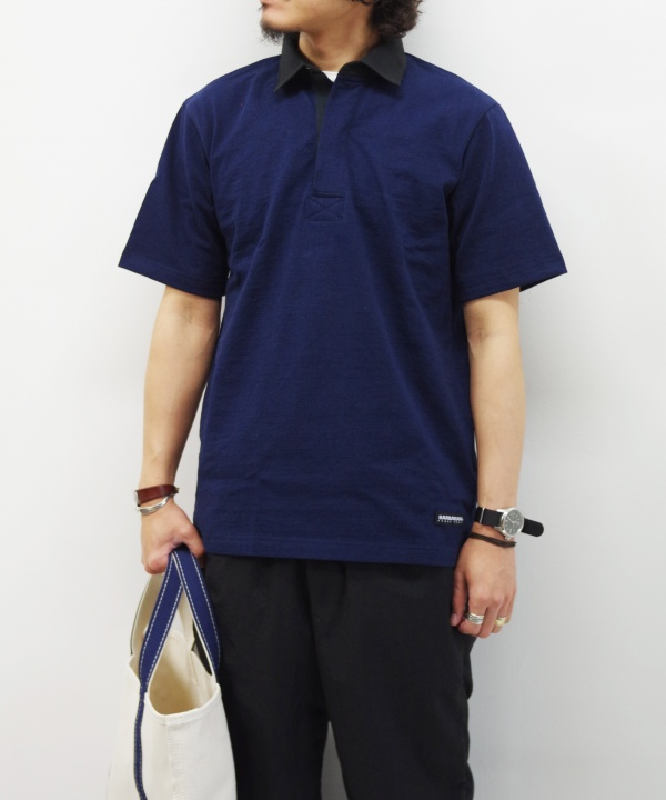 BARBARIAN/バーバリアン LIGHT WEIGHT-RUGBY SHIRT S/S MAPS LIMITED 【MAPSのスペシャル】