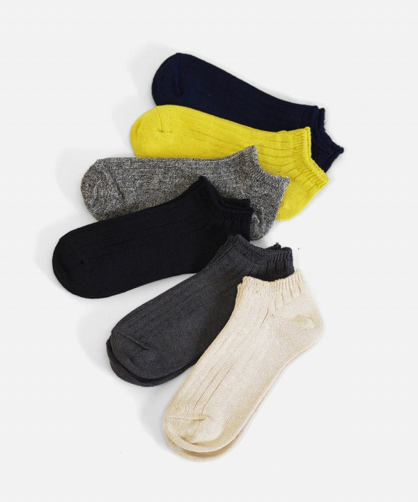 Ro To To/ロトト LINEN COTTON RIB SOCKS SHORT