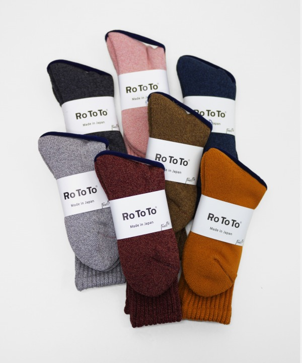 ROTOTO/ロトト LOOSE PILE SOCKS