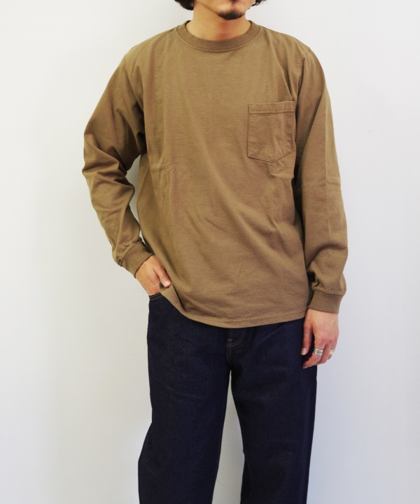 Goodwear/グッドウェア L/S POCKET TEE (全3色)