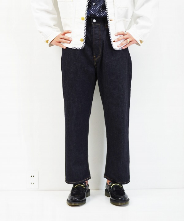 HATSKI/ハツキ Loose Cropped Denim - One wash