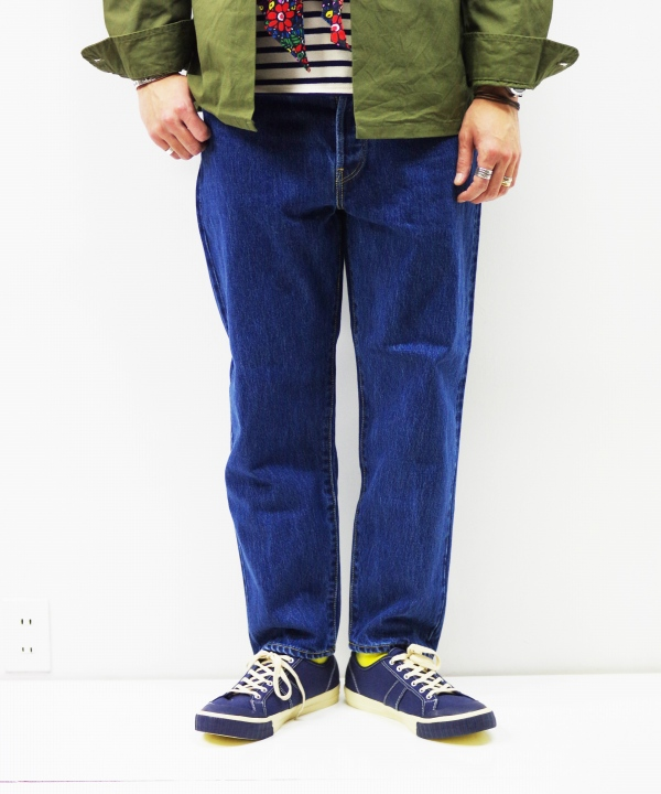 HATSKI/ハツキ Loose Tarperd Denim - Blue