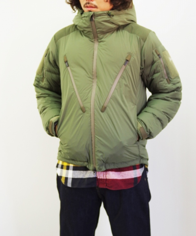 Manual Alphabet x NANGA/マニュアルアルファベット x ナンガ M/A PCU DOWN JACKET - KHAKI