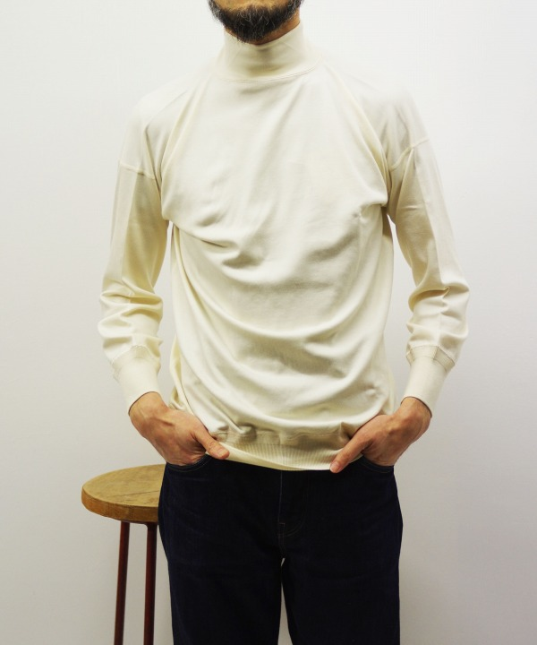 Olde Homesteader/オールドホームステッダー Interlock MIL MOCK NECK LONG SLEEVE - アイボリー