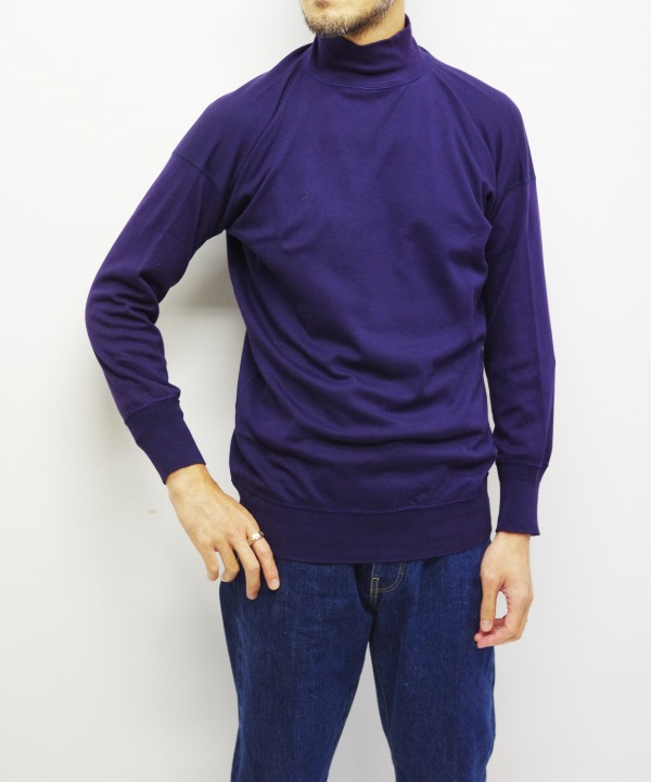Olde Homesteader/オールドホームステッダー MIL MOCK NECK LONG SLEEVE - Interlock ネイビー